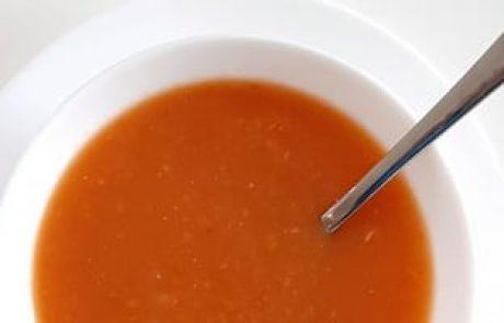 מרק עגבניות צלויות טעים
